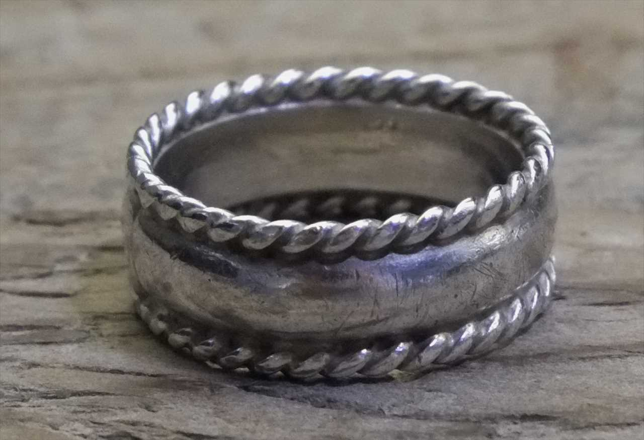 Vintage Mexican Silver 925 Ring (R023) ヴィンテージ メキシカン シルバー ジュエリー アクセサリー リング