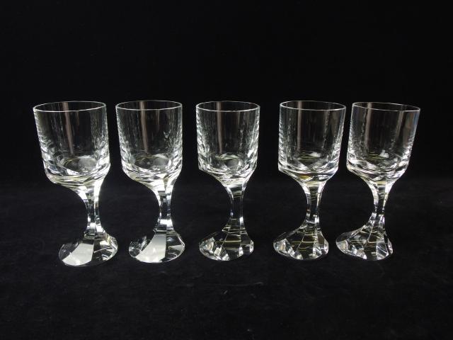 全国送料無料 【中古】バカラ ナルシス ワイングラス 5客セット ウォーターゴブレット カクテル S9916J