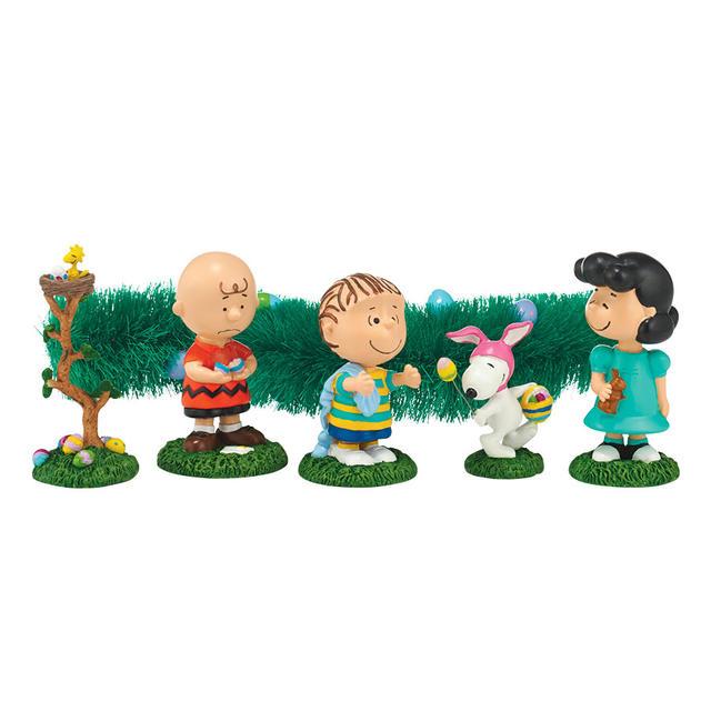 スヌーピー フィギュア インテリア小物【Department 56】Peanuts Egg Hunt Set of 6
