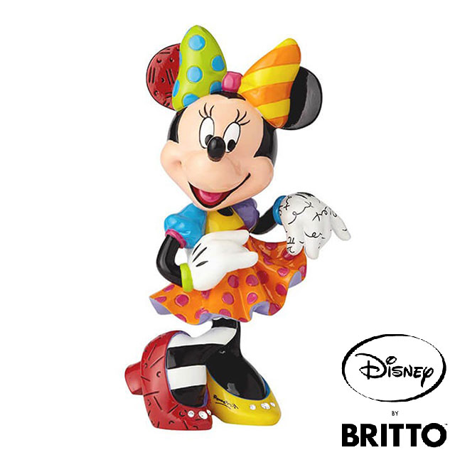 【送料無料】ミニー 90周年アニバーサリーモデル【Disney by BRITTO】 ディズニー ロメロ・ブリット Minnie Mouse フィギュア 置物 インテリア ギフト プレゼント お祝い カラフル 鮮やか 派手 かわいいEnesco社認定 日本正規総代理店 #6001011
