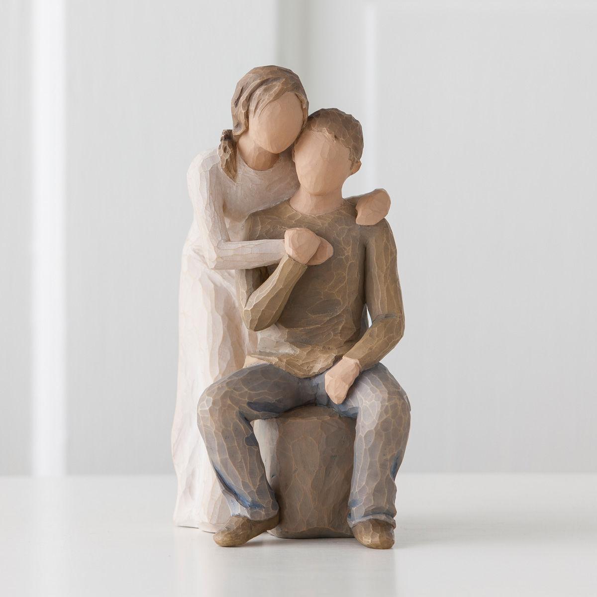 ユー アンド ミー【Willow Tree ウィローツリー】 置物 彫像 フィギュア オブジェ 癒し 贈り物 インテリア メモリアル 結婚祝い 結婚記念日 夫婦 カップル ウェディング 正規代理店 #26439