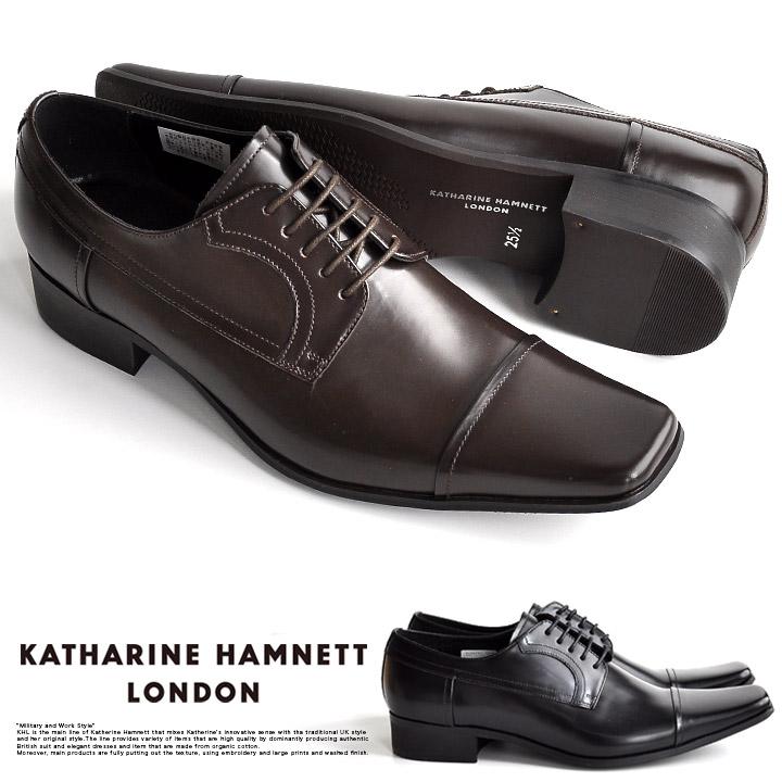 キャサリンハムネット ビジネスシューズ  ビジネス靴 革靴 紳士靴 仕事靴 メンズ 本革 ストレートチップ 外羽 走れる 歩きやすい ウォーキング 通気性 通勤 3947