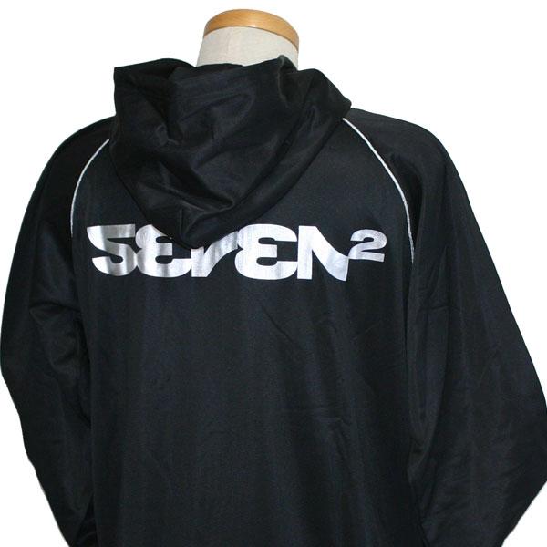 SEVEN2(セブンツー)_メンズ_裏起毛ジップパーカー【ブラック(BKV)】_501538
