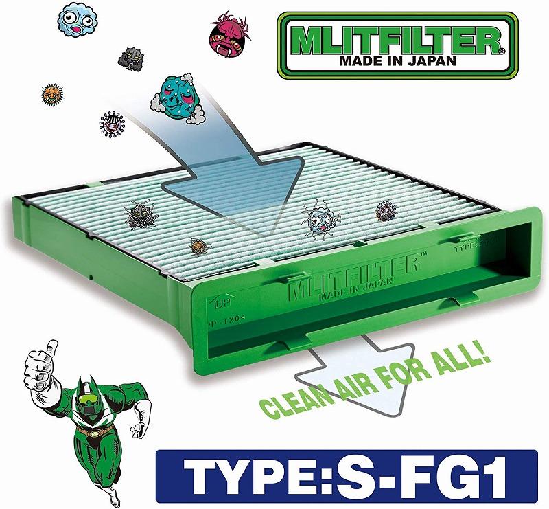 花粉やPM2.5を除去して抗菌 推奨 防臭 MLITFILTER エムリット フィルター スバル専用 価格交渉OK送料無料 インプレッサ S4 Type:S-FG1エアコンフィルター レヴォーグ フォレスター 日本製 XV WRX