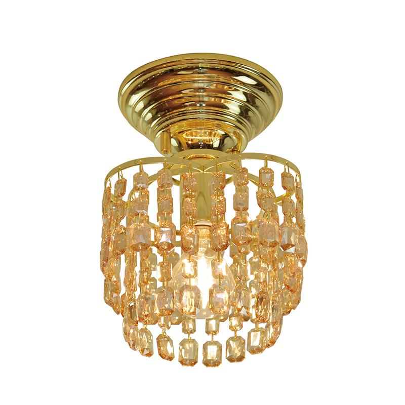 シーリングライト LED対応 アンバー クリスタルガラス 1灯 ライト リビング おしゃれ キラキラ 北欧 インテリア照明 (メーカー直送、代金引き不可)