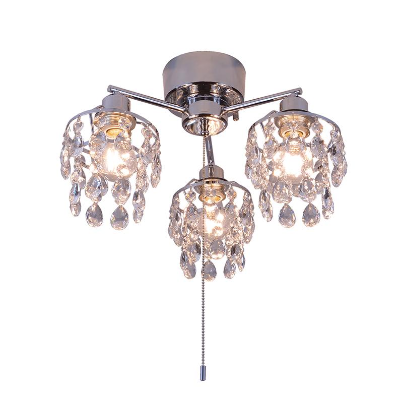 シーリングライト LED対応 クリスタルガラス 3灯 ライト シャンデリアライト リビング おしゃれ キラキラ 北欧 インテリア照明 (メーカー直送、代金引き不可)