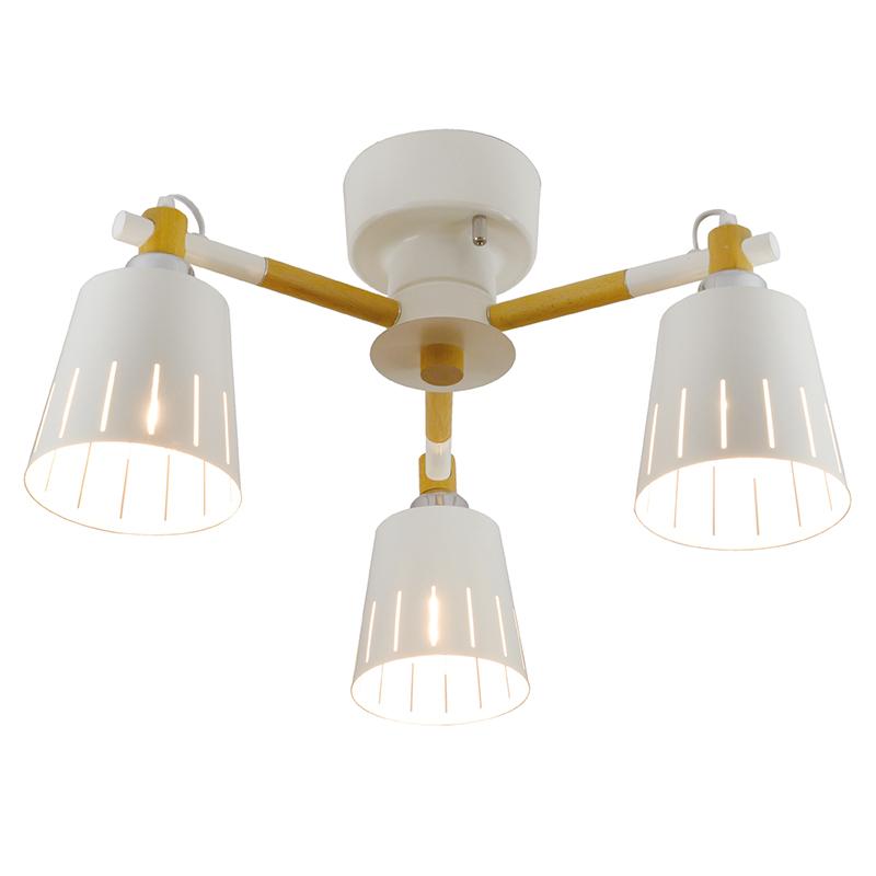 シーリングライト LED電球対応 3灯 ウッドシーリング シェード 木 ライト 白 ホワイト リビング ダイニング 食卓 リビング 居間 寝室 おしゃれ 北欧 インテリア照明 (メーカー直送、代金引き不可)