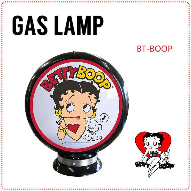 BettyBoop ベティ ブープ GAS LAMP ガスランプ ガス灯 ライト ガスポンプ ガソリンスタンド 電飾 置物 雑貨 アメリカ おしゃれ インテリア ベティーちゃん キャラクターグッズ(メーカー直送、代金引き不可)