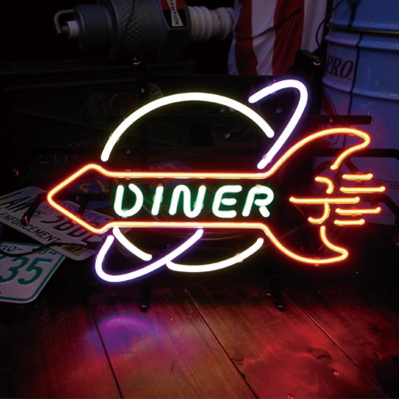 NEON SIGN ネオンサイン DINER ダイナー ネオン看板 ネオン管 照明 ライト ガレージ アメリカン 壁掛け 壁飾り バー おしゃれ(メーカー直送、代金引き不可)