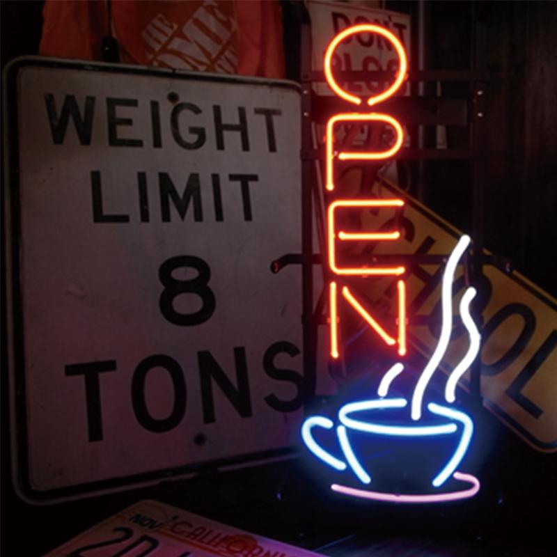 NEON SIGN ネオンサイン COFFEE OPEN ネオン看板 ネオン管 照明 ライト ガレージ アメリカン 壁掛け 壁飾り バー カフェ おしゃれ(メーカー直送、代金引き不可)
