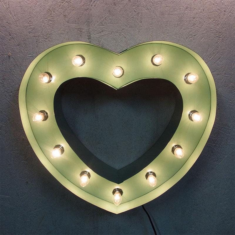 最大2000円OFFクーポン! HEART SIGN ハートサイン ターコイズ ブリキ製 電飾看板 照明 ライト アメリカン 壁掛け 壁飾り ダイナー ライブハウス かわいい おしゃれ インテリア(メーカー直送、代金引き不可)