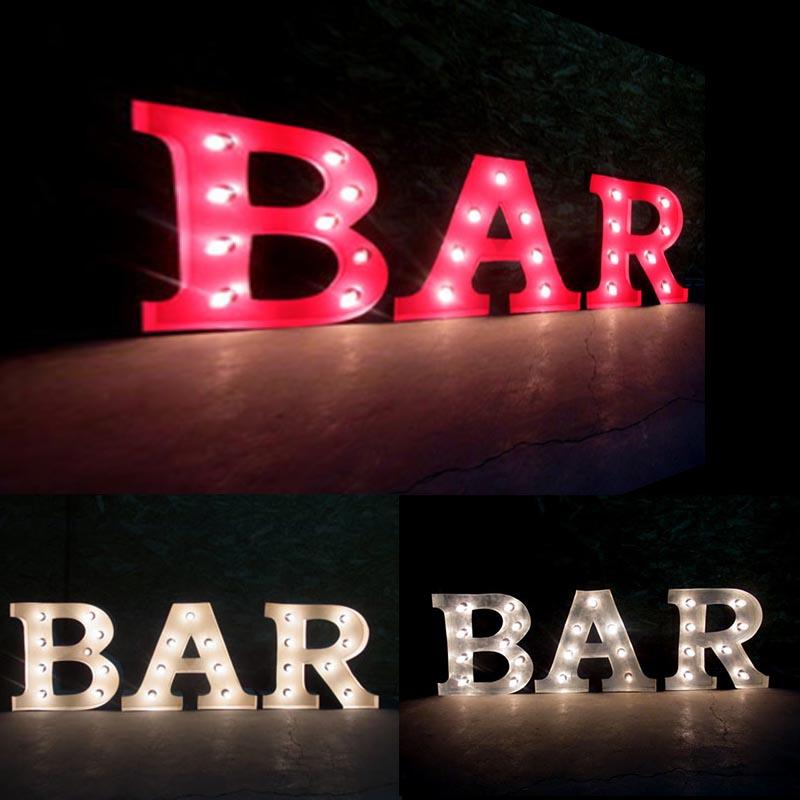 AMERICAN SIGN WITH LIGHT 「BAR」 ネオンサイン 電飾看板 照明 ブリキ製 bar ライト アメリカン 雑貨 ライブハウス 飲食店 看板 かっこいい おしゃれ インテリア (メーカー直送、代金引き不可)