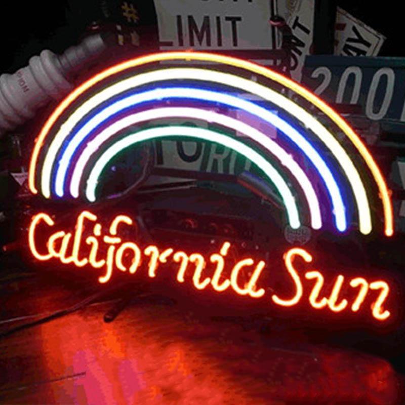 【CALIFORNIA SUN】 ネオンサイン ネオン管 ネオン 看板 電飾看板 照明 ガラス管 CALIFORNIA ライト アメリカン 雑貨 飲食店 かっこいい おしゃれ インテリア (メーカー直送、代金引き不可)