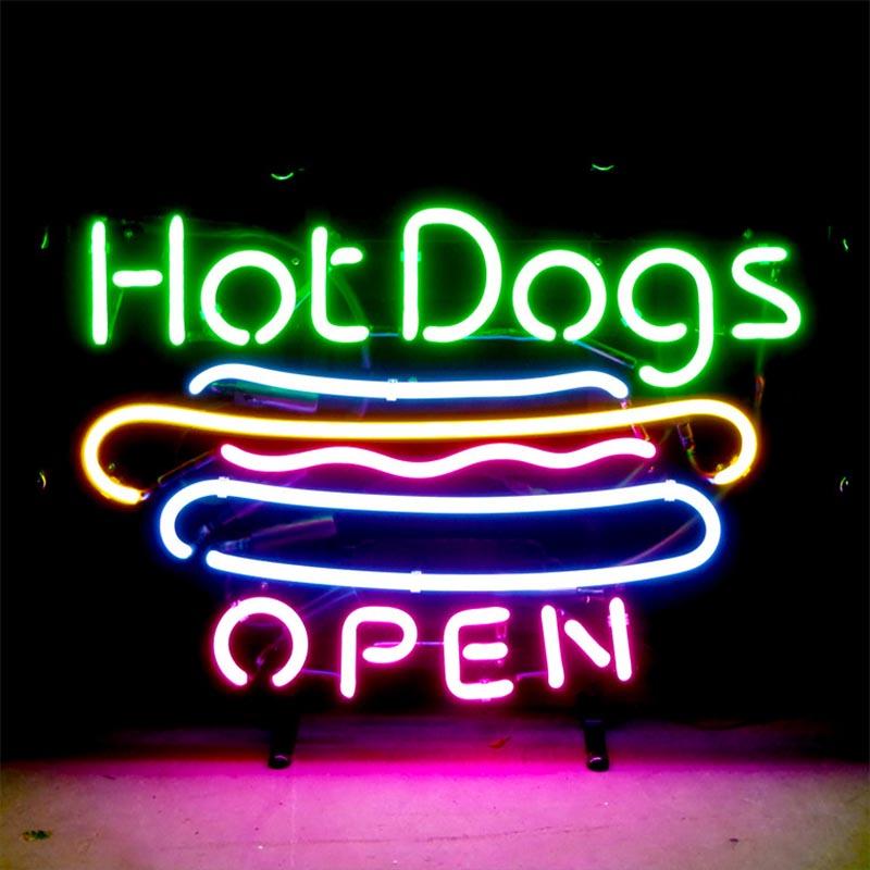 【HOT DOG】 ネオンサイン ネオン管 ネオン 看板 電飾看板 照明 ガラス管 Neon Sign 屋内仕様 アイキャッチ 壁掛け アメリカン 雑貨 かっこいい おしゃれ インテリア (メーカー直送、代金引き不可)
