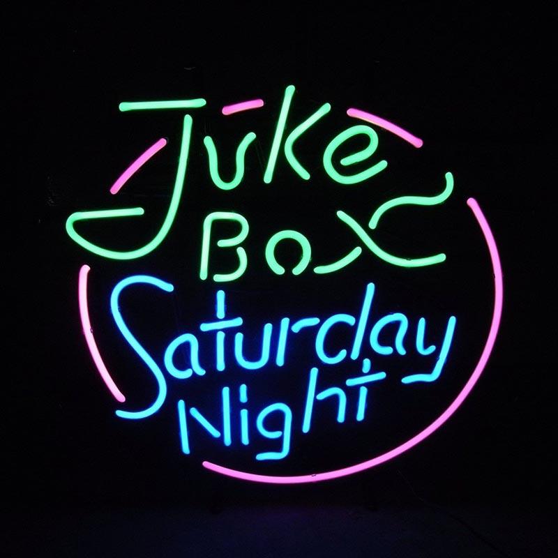 【JUKE BOX】 ネオンサイン ネオン管 ネオン 看板 電飾看板 照明 ガラス管 Neon Sign 屋内仕様 アイキャッチ 壁掛け アメリカン 雑貨 飲食店 BAR かっこいい おしゃれ インテリア (メーカー直送、代金引き不可)
