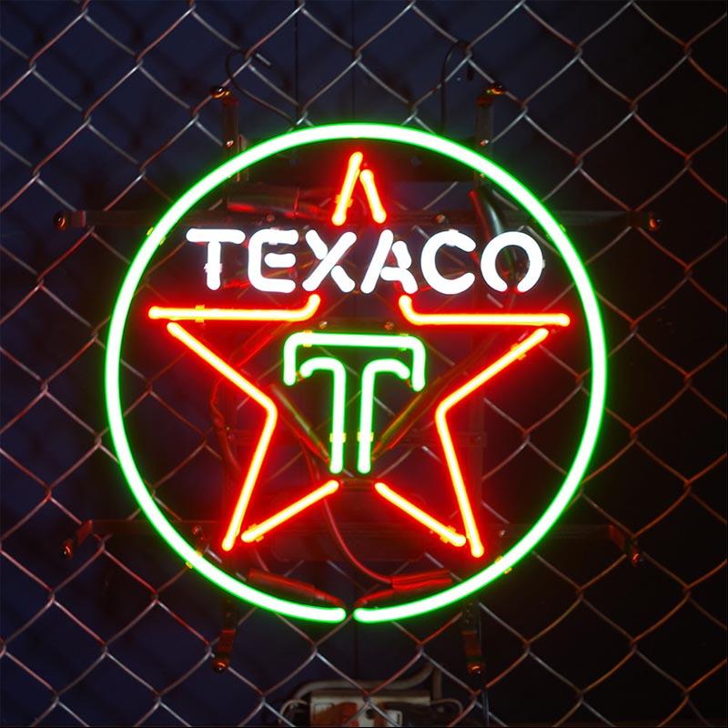【TEXACO】 ネオンサイン ネオン管 ネオン 看板 電飾看板 照明 ガラス管 Neon Sign 屋内仕様 アイキャッチ 壁掛け アメリカン 雑貨 かっこいい おしゃれ インテリア (メーカー直送、代金引き不可)