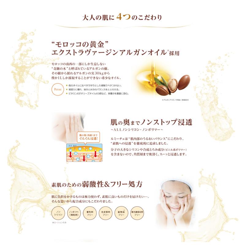 Rummyce 保濕乳液黃金黃金保濕潤膚洗劑非矽油摩洛哥堅果油