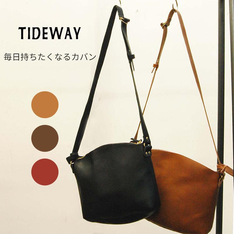 TIDEWAY 姫路レザー 牛革 ショルダーバッグ Mサイズ レディース バッグ 鞄 カバン 上品 ショルダー バッグ 母の日 ギフト