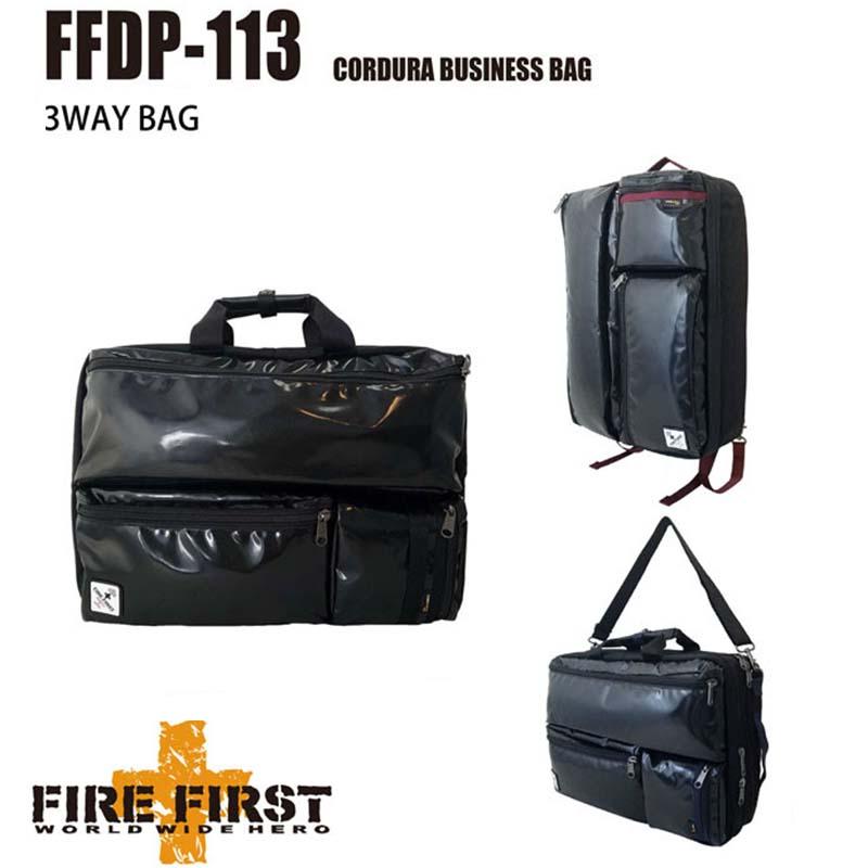 FIRE FIRST リュックバッグ ビジネスバッグ ショルダーバッグ 3WAYバッグ リュックサック バックパック カジュアル 防水 B4収納可 メンズ ビジネス かばん