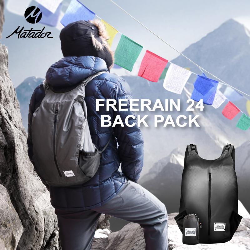Freerain24 Backpack フリーレイン24バックパック 大容量 24L 折りたたみ式 バックパック リュックサック Matador マタドール メンズ レディース 完全防水 防水 リュック 軽量 折り畳みリュック アウトドア 軽い バッグ バック ブラック