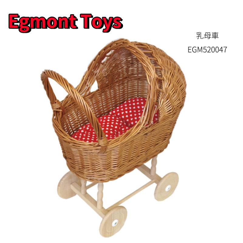 Egmont Toys エグモントトイズ 乳母車 おままごと ごっこ遊び 赤い布団 人形用 女の子 かわいい おもちゃ 誕生日 クリスマス プレゼント