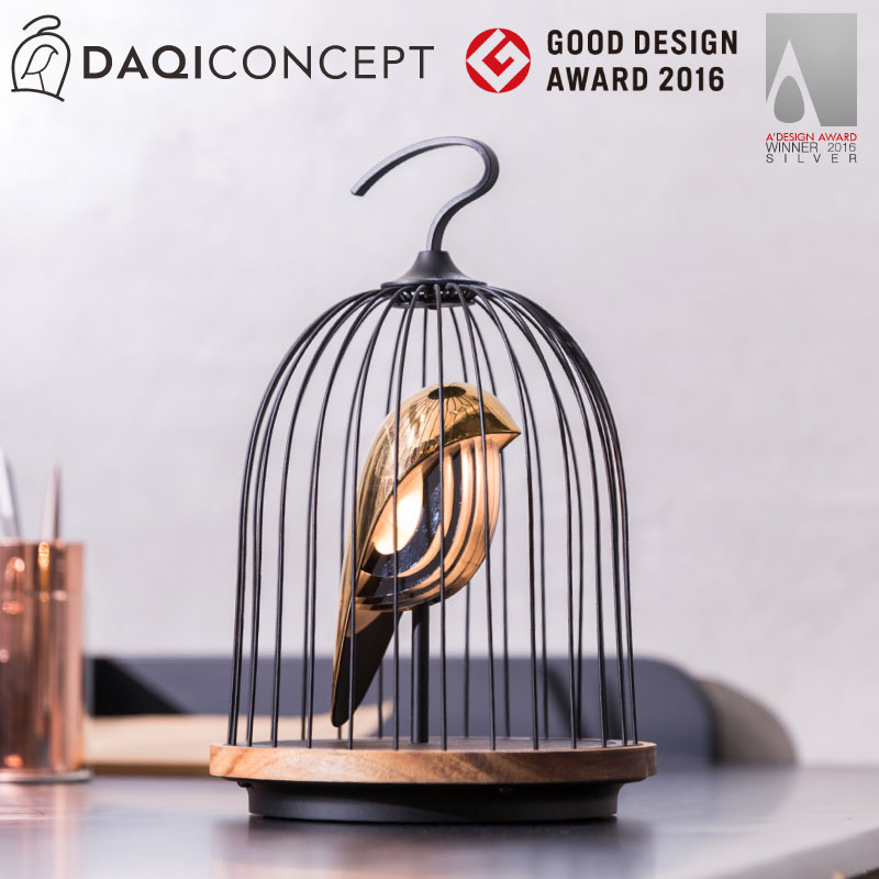 DAQICONCEPT インテリアライト Bluetooth 2way スピーカー 鳥型 BGM 間接ライト LEDスピーカー 3段調光 グッドデザイン賞 伝統工法 おしゃれ インテリア
