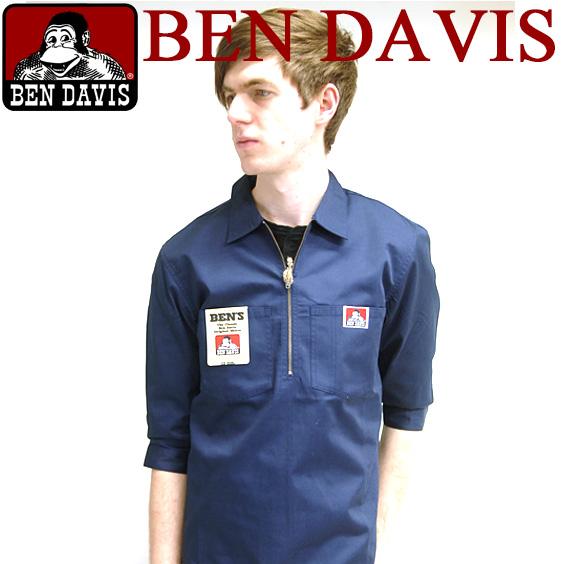 419033655cf Seven minutes length half zip shirt BEN DAVIS seven minutes length half zip  shirt BEN-077