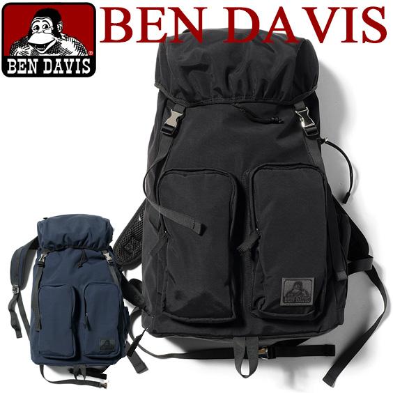 BEN DAVIS バックパック ベンデイビス リュック ベンデービス ヒモで絞れてカジュアルに使えるメインポケット。大人っぽくて洗練されたデザインが魅力的なフラップタイプのデイパックがブラックとネイビーの2色展開で登場しました。BEN-785