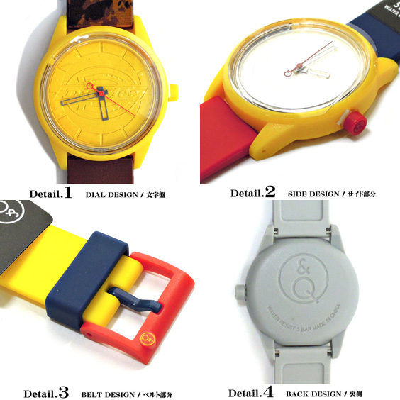 Dickies watch Dickies smile solar ★ Dickies available in men's and women's casual watch appeared. Model of Q & Q SMILESOLAR with solar battery and DICKIES is a cute design accessory. ⇒ DICKIES-513