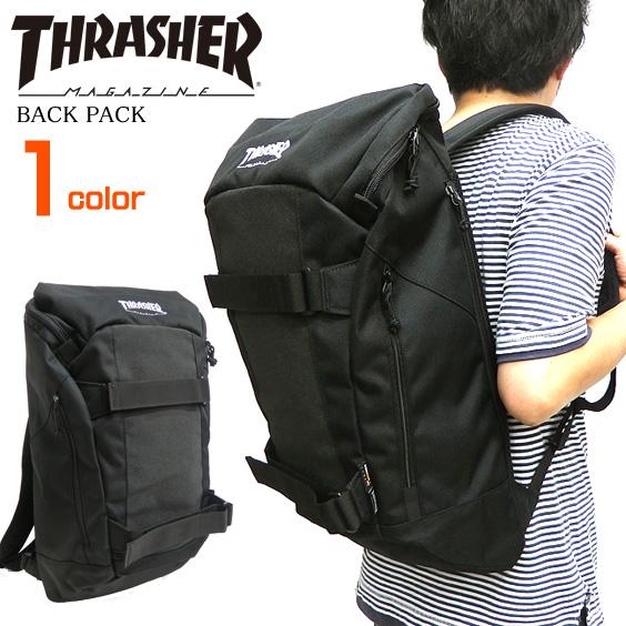 リュック THRASHER スラッシャー ボードバックパック カバン スラッシャーマガジン リュックサック ボードストラップ付き 商品番号 THRASHER-THRCD504