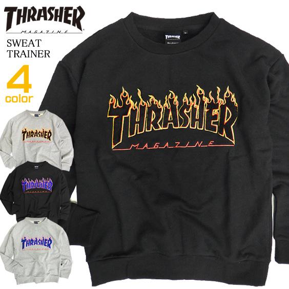 699e380dbf76 All slasher trainer men THRASHER sweat shirt frame logo embroidery slasher  magazine sweat shirt thrasher magazine FLAME LOGO crew neck trainer sweat  shirt ...