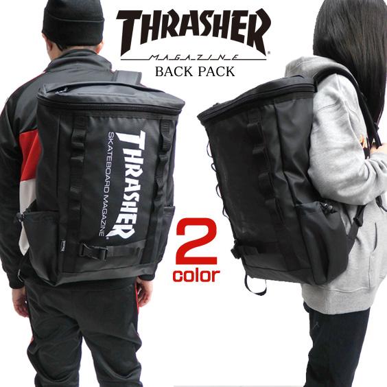 THRASHER リュック スラッシャー バックパック ボックス型 カバン スクエア型 リュックサック メンズ スケーターブランド thrasher リュックサック BAG メンズ バッグ レディース 鞄 THRASHER-THRRM502