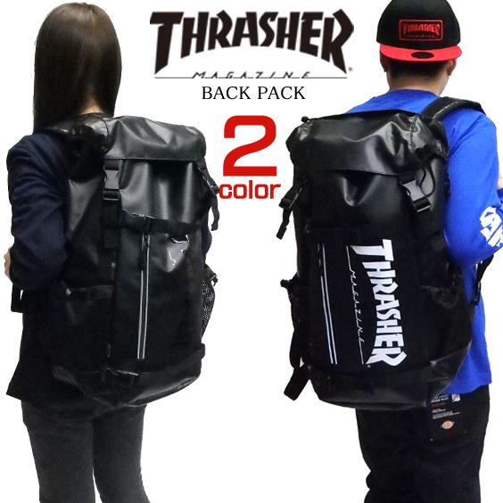 リュック THRASHER ロゴプリント スケボーリュック スラッシャー バックパック メンズ バッグ レディース デイパック スラッシャーマガジン カバン ロゴ プリント thrasher magazine 鞄 商品番号 THRASHER-THRTP502