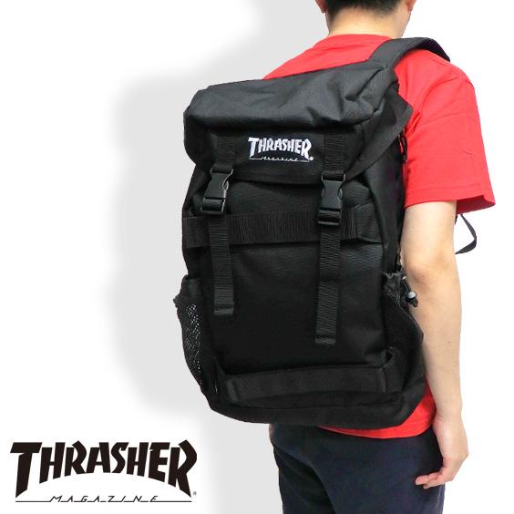 THRASHER バックパック メンズ リュック ロゴ スラッシャー バッグ リュックサック thrasher magine デイバック メンズ 鞄 レディース 旅行バッグ THRASHER-THRCD505