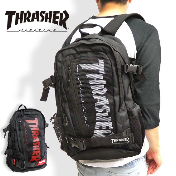 THRASHER リュック メンズ バックパック スラッシャー デイパック 多機能 カバン ロゴプリント thrasher magine リュックサック メンズ バッグ レディース 旅行バッグ THRASHER-THRSG7901N