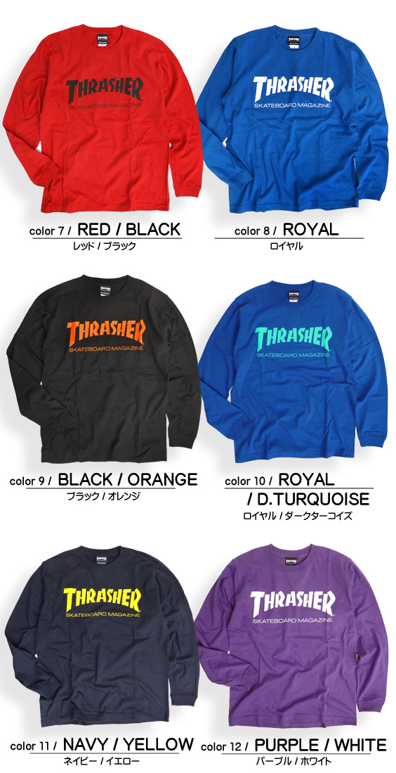 76287667 renovatio: THRASHER-004 of THRASHER T-shirt logo long sleeves T ...