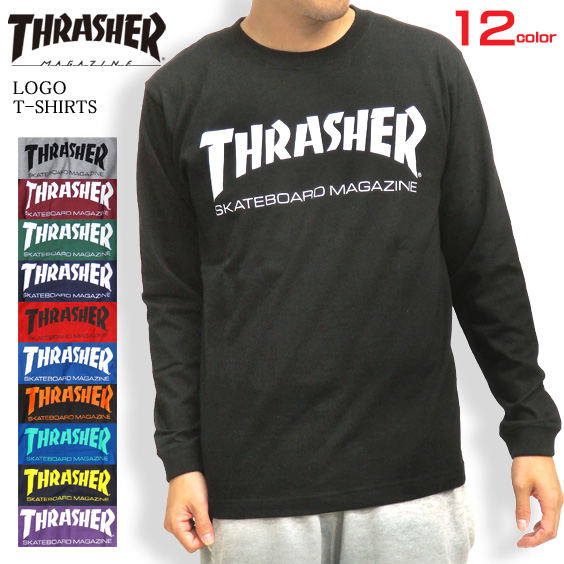 369baf70 THRASHER-004 of THRASHER T-shirt logo long sleeves T-shirt slasher Ron ...