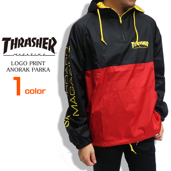 6deaa0c48199 THRASHER-047 of THRASHER parka slasher anorak parka men anorak logo print  tops pullover by color thrasher magazine skater fashion slasher magazine  street ...