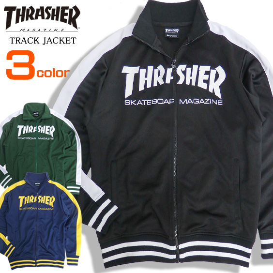 THRASHER ジャケット ロゴプリント トラックジャケット スラッシャー マグロゴ メンズジャケット thrasher magazine トップス ジャージ スケーターファッション ライトアウター スラッシャーマガジン ストリート系 THRASHER-049