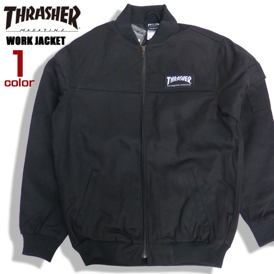 THRASHER ワークジャケット ツイル ジャケット メンズ スラッシャー ツイルジャケット ブランドタグ thrasher magazine アウター スケーターファッション スラッシャーマガジン ストリート メンズアウター THRASHER-066