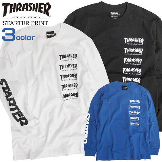 1d8924fc THRASHER T-shirt slasher long sleeves T-shirt men STARTER BLACK LABEL logo T  ...