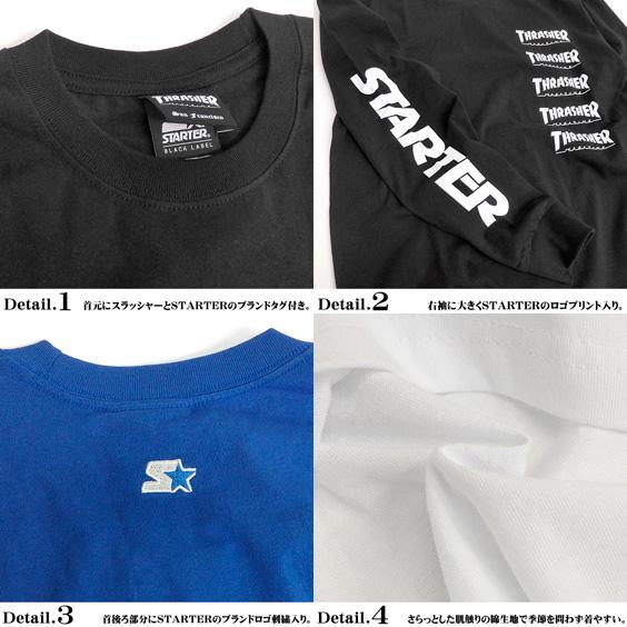 4c3892234d84 ... THRASHER T-shirt slasher long sleeves T-shirt men STARTER BLACK LABEL  logo T ...