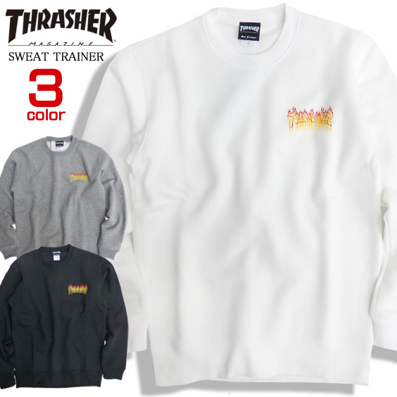 2e8b65d6568d THRASHER trainer fire logo sweat shirt trainer men slasher FLAME OVERLAY  CREW SWEAT sweat shirt back raising thrasher magazine skater fashion  slasher ...