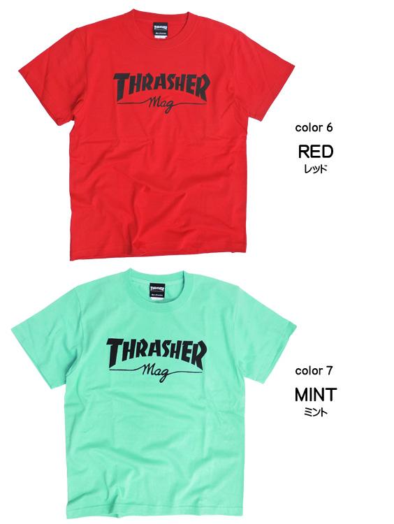 5f6b116a9f62 renovatio: THRASHER T-shirt mug logo short sleeves T-shirt slasher ...