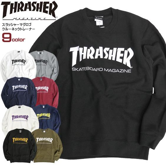 THRASHER トレーナー ロゴプリント スウェット トレーナー メンズ スウェットトレーナー 裏起毛 スラッシャー マグロゴ プリント トップス thrasher magazine スケーターファッション スラッシャーマガジン ストリート系 THRASHER-053