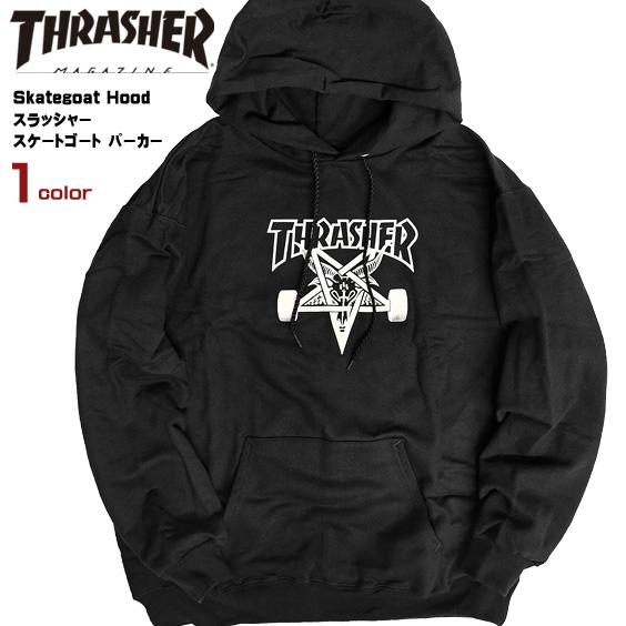 THRASHER パーカー スラッシャー スケートゴート プリント スウェットパーカー Skategoat Hood スラッシャーマガジン グラフィックプリント プルオーバー スエット メンズ 裏起毛 ストリート スケーター THRASHER-150