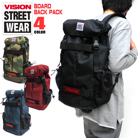 f18fe5ad333e2 VISION backpack VISION STREET WEAR bag ★ vision streetwear VSPC502N vision  skateboard rucksack VISION board backpack man and woman combined use ...