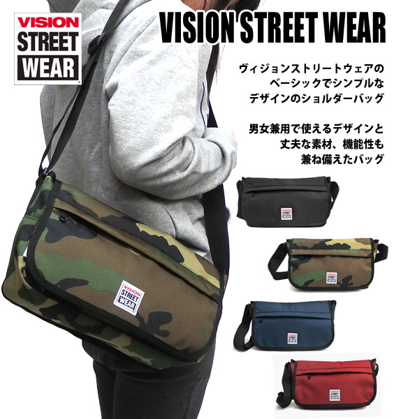 8ade8ee506ab4 VISION shoulder bag VISION STREET WEAR messenger bag ★ vision streetwear  messenger bag vision VSPC400N VISION man and woman combined use shoulder  bag ...
