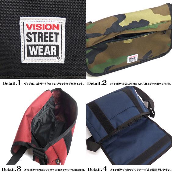 VISION挎包VISION STREET WEAR信使包★视觉街道服装信使包视觉挎包VISION男女兼用挎包简单的挎包VISION-319