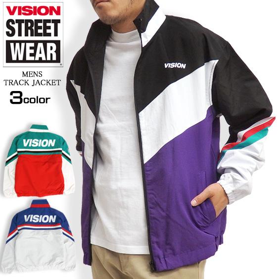 wholesale dealer e5fdb 9cf08 VISION truck jacket change nylon jacket men jersey vision streetwear back  print truck tops treat men jacket sports outer VISION-048
